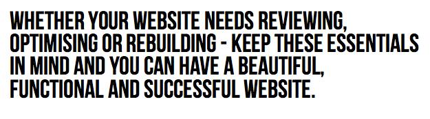 11 Essential Ingredients Every Website Needs