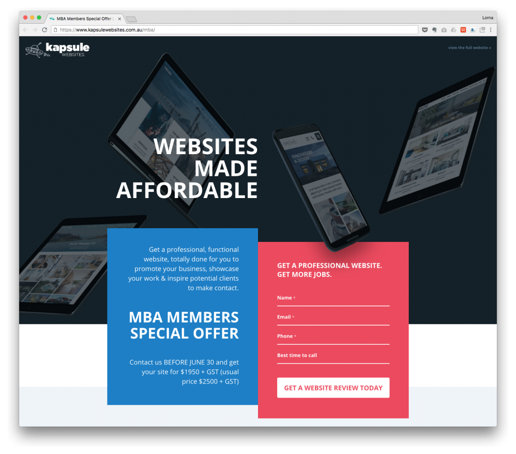 CALL TO ACTIONS ON LANDING PAGES