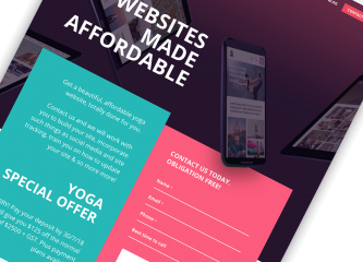 Landing page that convert from intervision design
