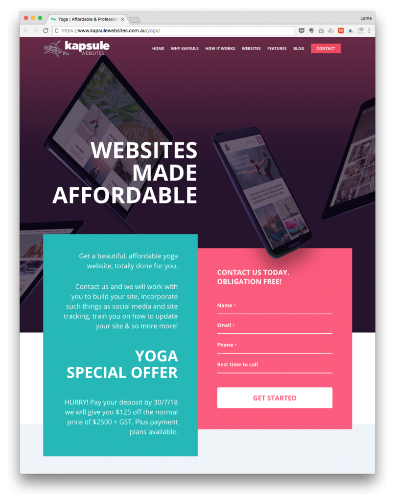 Intervision design landing pages that convert